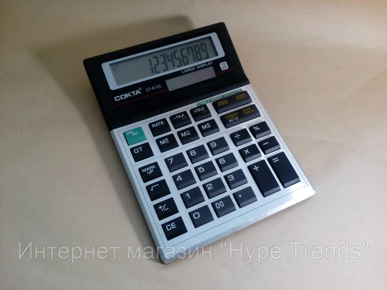 Калькулятор с солнечной батареей COKTA CT-612C