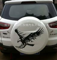 Виниловая наклейка для машины 3D Орёл 50 см белый
