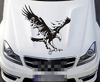 Виниловая наклейка для машины 3D Орёл 50 см черный
