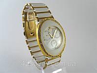 Женские часы RADO  браслет керамика, золотые с серебром