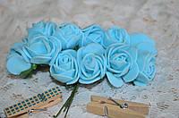 Букет розы  (цена за букет из 10 шт). Цвет - голубой