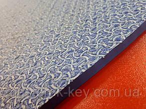 Облегчённая микропористая резина TOMS на тканевой основе 650*740*9 мм цвет светло синий