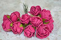Букет розы  (цена за букет из 10 шт). Цвет - малиновый