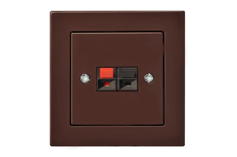 Аудіо розетка, коричневий, Epsilon