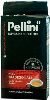 Кофе молотый Pellini Espresso №42 в пачке 250 г, Смесь робуста арабика