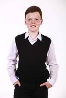 Шкільний бавовняний жилет для хлопчика, чорний, фото 1