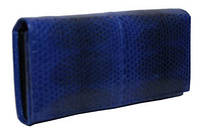 Женский кошелек из кожи морской змеи (SN 53 Dark Blue)