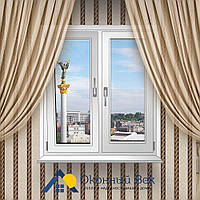 Двухстворчатое металлопластиковое окно Rehau