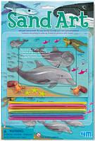 Набор для творчества Песчаная картинка Дельфины 4М (00-03010-1)