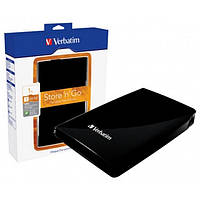 Внешний жесткий диск 1Tb Verbatim Store'n'Go, Black, 2.5', USB 3.0, 5400 rpm (53023)