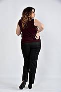 Женская шифоновая блуза 0502 цвет марсал размер 42-74, фото 2