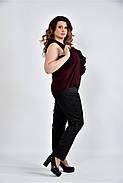 Женская шифоновая блуза 0502 цвет марсал размер 42-74, фото 4