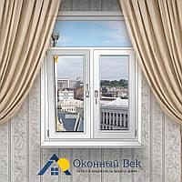 Т-образное металлопластиковое окно Rehau