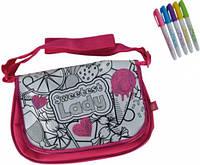 Мини сумочка с паетками через плечо 5 маркеров 31×20 см Color Me Mine (637 9159)