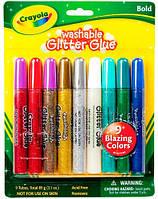 Жидкий клей с блестками, 9 цветов, Crayola (69-3527)