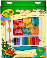 Незасыхающий пластилин с формочками, 12 цветов, Crayola (57-0320)