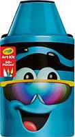 Пенал для творчества Восковый мелок, синий, Crayola (04-6898)