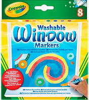 Фломастеры для рисования на стекле 8 шт., Crayola (58-8165)