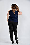 Женская шифоновая блуза 0502 цвет синий размер 42-74, фото 2