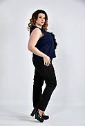 Женская шифоновая блуза 0502 цвет синий размер 42-74, фото 3
