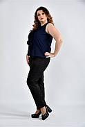 Женская шифоновая блуза 0502 цвет синий размер 42-74, фото 4