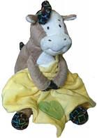 Лошадка с одеялом 19 см желтый Devilon (D1228319-1)