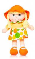 Мягконабивная кукла в шляпке 36 см Devilon (56114-2)