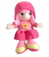 Мягконабивная кукла с вышитым лицом розовая 20 см Devilon (31908-2)