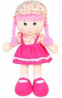 Мягконабивная кукла с косичками розовый 51 см Devilon (51520-3)