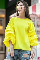 Блуза с воланом