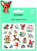 Животные набор наклеек с блестками Djeco (DJ09778)