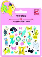 Кошки набор наклеек с блестками Djeco (DJ09775)