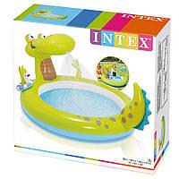 Детский бассейн Крокодил Intex 57431, интекс 198х160х91 см