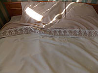 Постельное белье с вышивкой Велес двуспальное евро сатин
