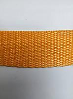 Лента капроновая одноцветная 50м 25мм х50м(желтый)