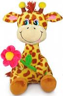 Мягкая игрушка Жираф с розовым цветком музыкальная 22 см LAVA (LA8614-1)