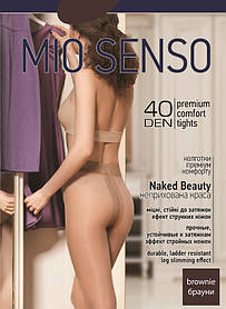 "Колготки Mio Senso ""Naked Beauty 40 den"" brownie, size 3 (3196)   5 шт."