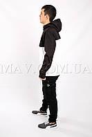 Cпортивный мужской анорак черно-белый Ястреб
