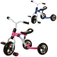 Велосипед M 3207-1 колеса EVA 3 шт , аморт , 2 кольори (рожевий, синій) Turbo Trike (BOC087781)