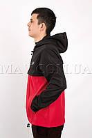 Мужской спортивный анорак  черно-красный Fred Perry