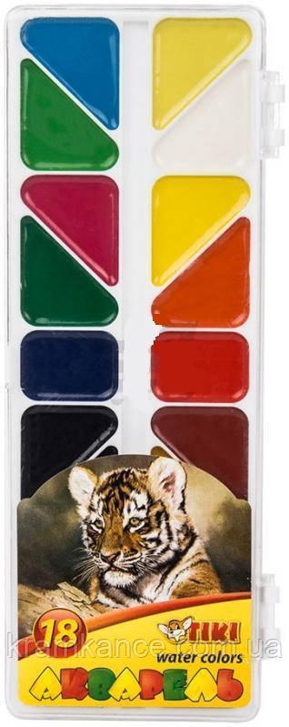 Фарби акварельні 18 кол TIKI 50114 платікових упаковка