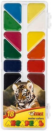 Фарби акварельні 18 кол TIKI 50114 платікових упаковка, фото 2
