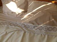 Постельное белье с вышивкой Орепей двуспальное евро сатин