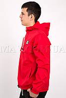 Мужской анорак спортивный красный Ястреб(бесплатная доставка+подарок)