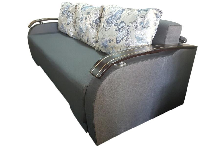 Пружинний диван Монарх з дерев'яними накладками