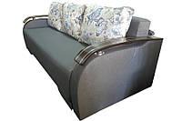 Пружинный диван Монарх с деревянными накладками