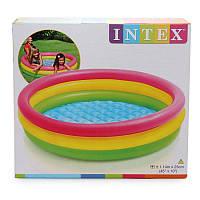 Детский бассейн Радуга Intex 57412, интекс 114х25 см