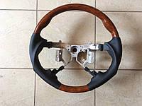 Руль Toyota Camry V40 2006-2012 (черная кожа + дерево) Sport-type