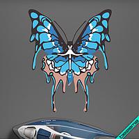 Наклейка на ткань Синяя бабочка [7 размеров в ассортименте]
