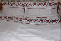 Постельное белье с вышивкой оберега Алатырь лен